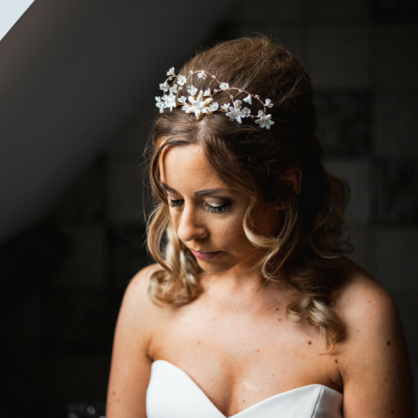 floral bridal hair crown rachel sokhal