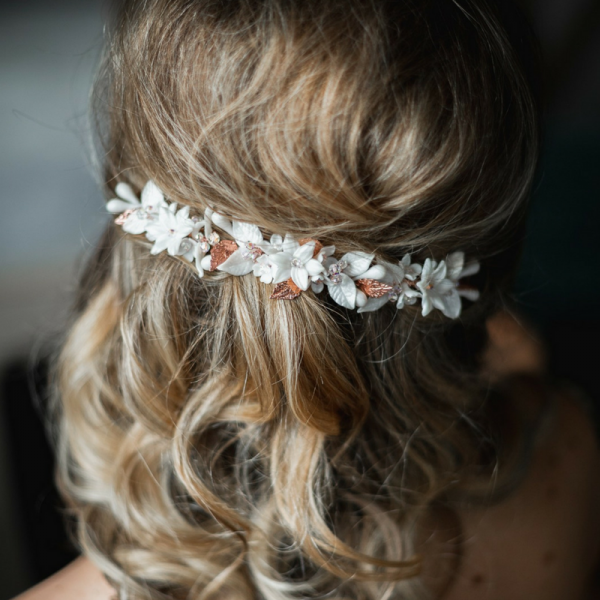 Floral rose gold Bridal Hair Piece Bedfordshire