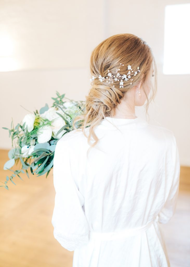 Wedding Hair loose bun