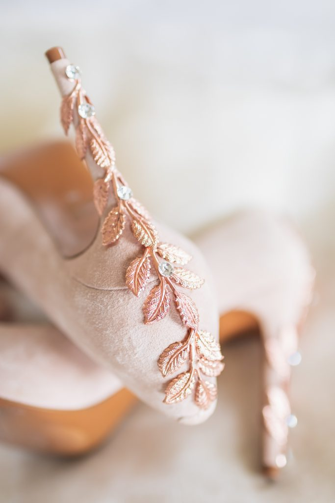 Blush Rose Gold Wedding Heels