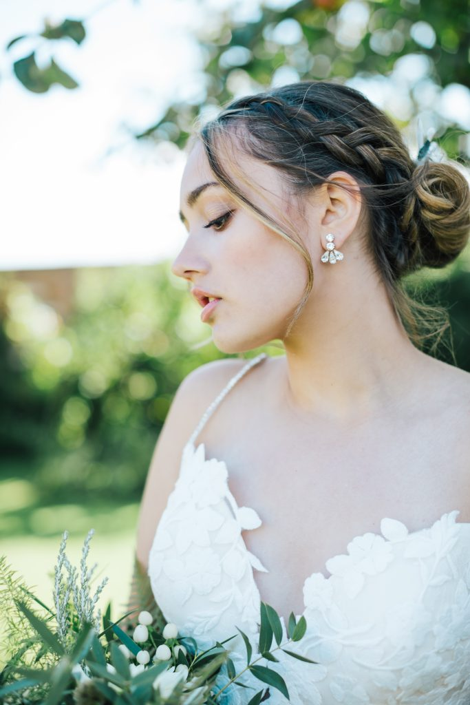 Sparkly bridal earrings