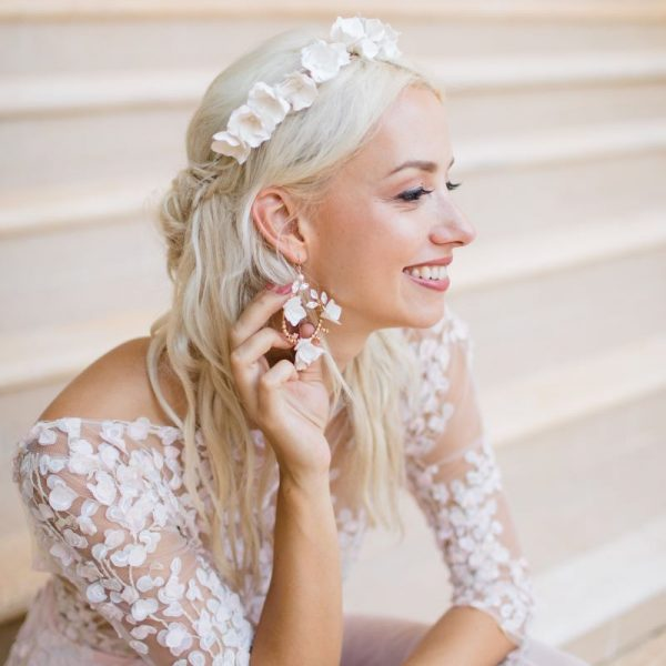Klara boho bridal earrings