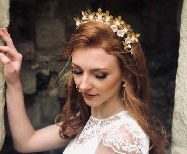 gold bridal crown