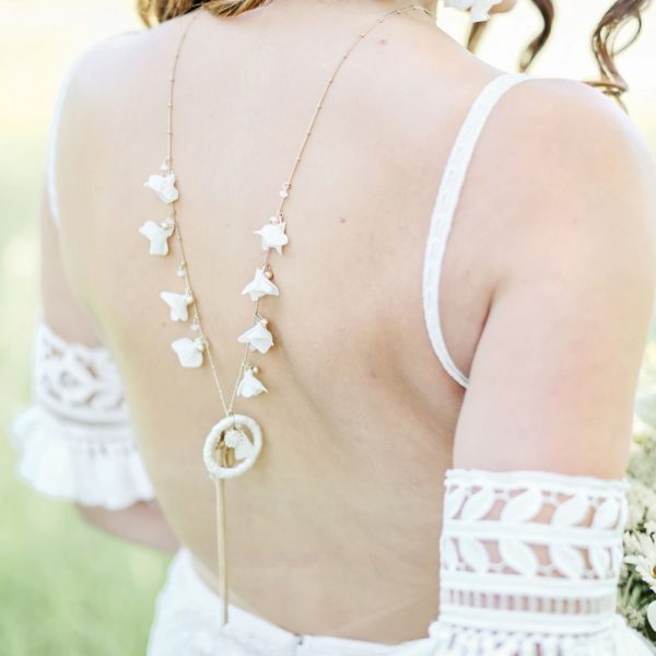 bridal backdrop necklace