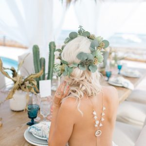 Klara bridal backdrop necklace