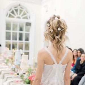 bridal flower hair pins