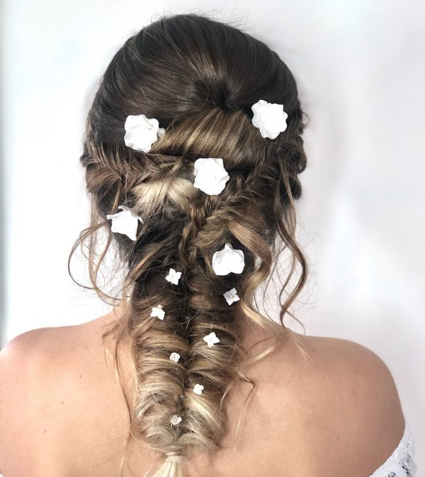 bridal floral hair pins