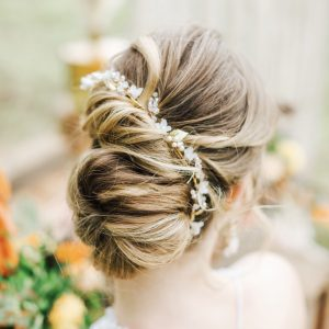 Valentina gold bridal hair vine