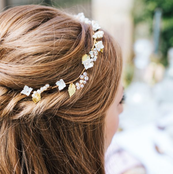 Valentina bridal hair vine