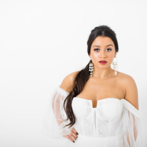 'Mae' statement bridal earrings