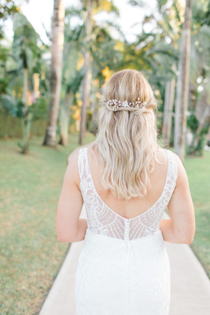 bridal half up half down hair