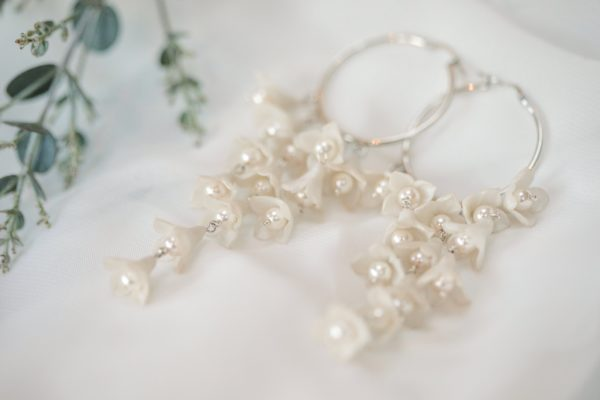 'Mae' statement bridal earrings