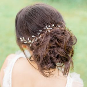 bridal hair vine sparkly