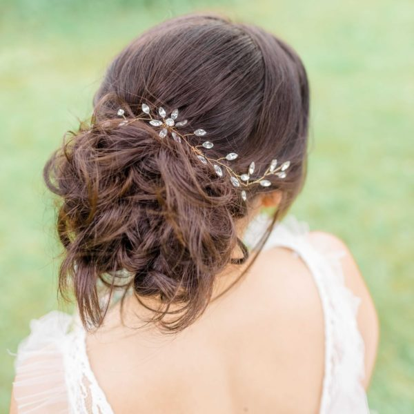 bridal hair vine gold