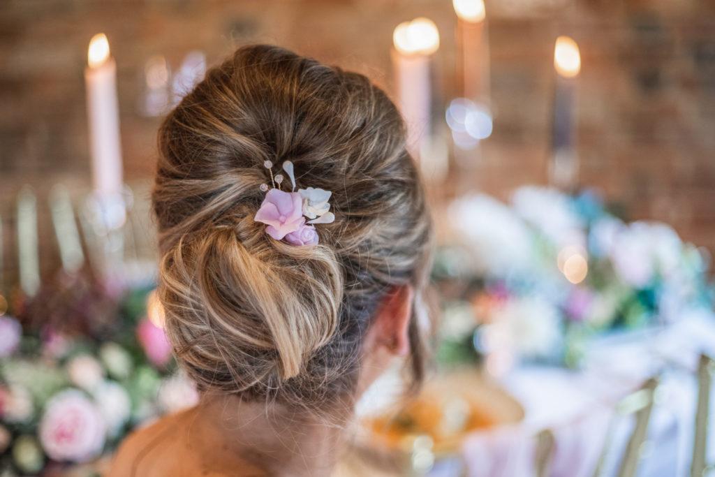 floral hair pin