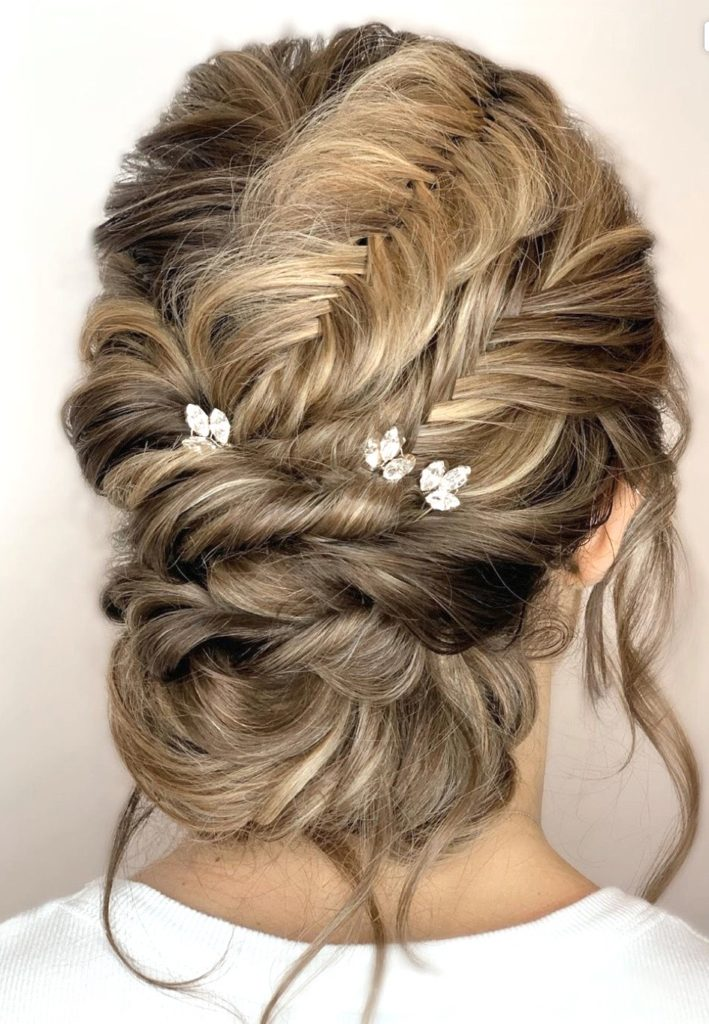 bridal hair braided updo