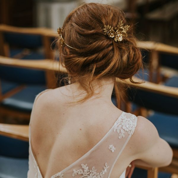 Eugenie gold hair comb