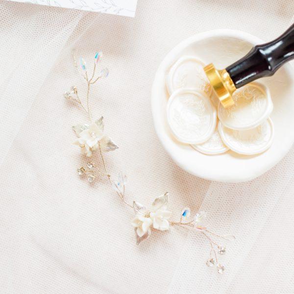 Rosie bridal hair vine