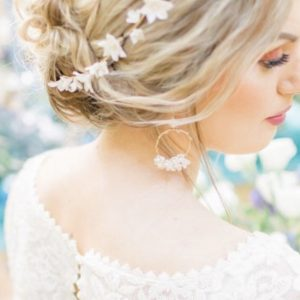 Emilie bridal hoop earrings