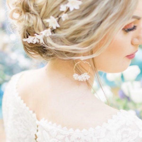 Emilie bridal hoop earrings