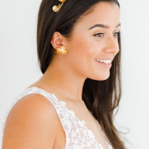 flower wedding earrings gold