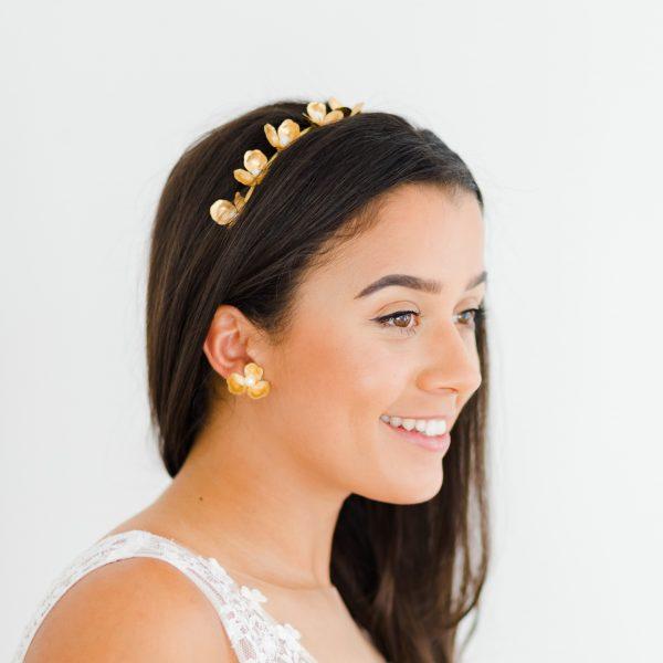 gold bridal headband