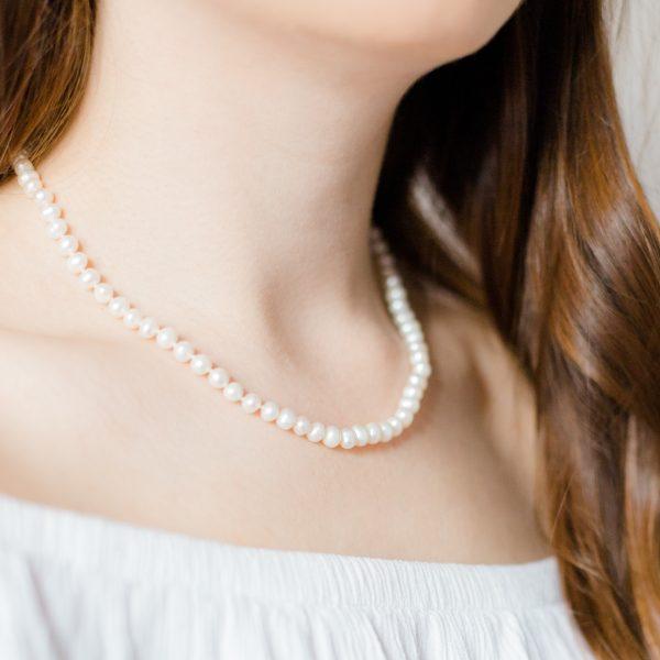 Margaret pearl bridal necklace
