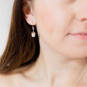 Marissa pearl bridal earrings