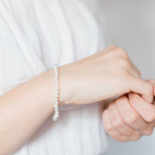 Olive Pearl Wedding Bracelet
