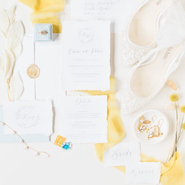 Cordelia bridal drop earrings