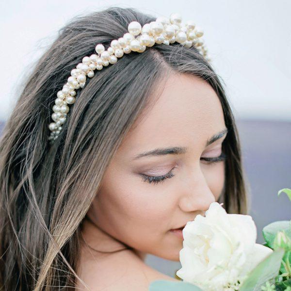 Nadia pearl bridal headband