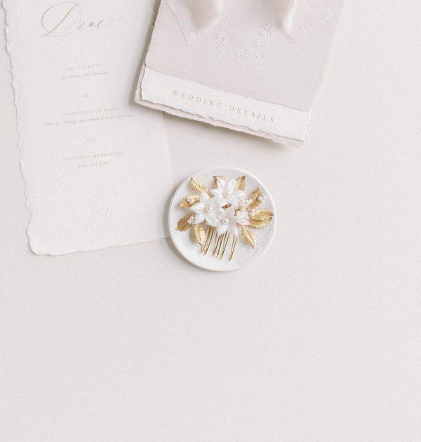 maribel bridal flower comb