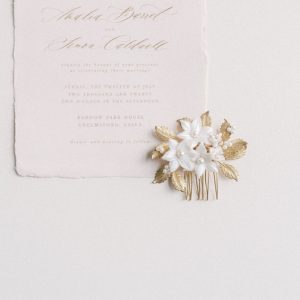 Maribel bridal flower comb