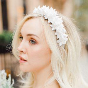 velvet floral headband
