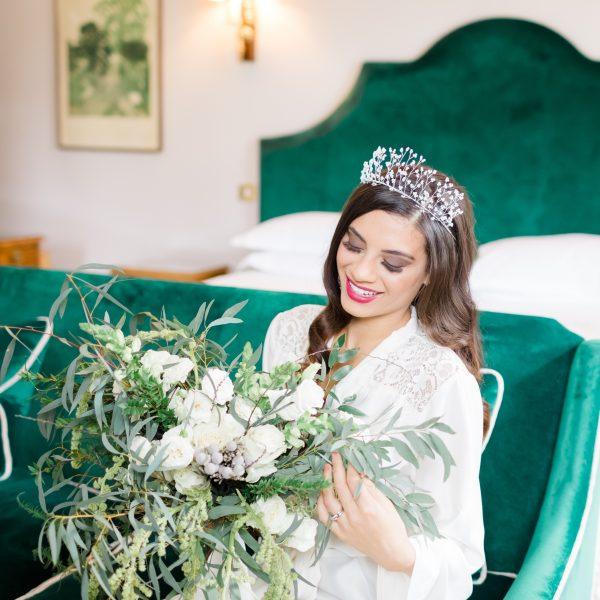 Heidi pearl bridal crown