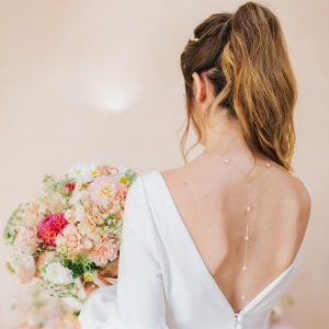 Aria bridal backdrop necklace