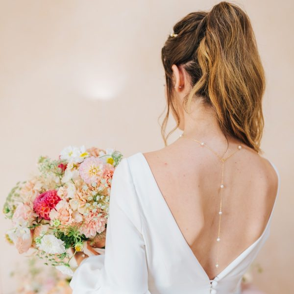 Aria bridal backdrop necklace