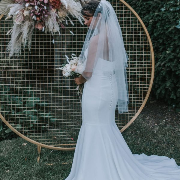 wedding veil with blusher