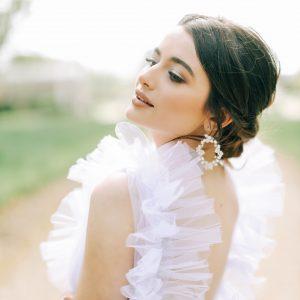 floral bridal earrings