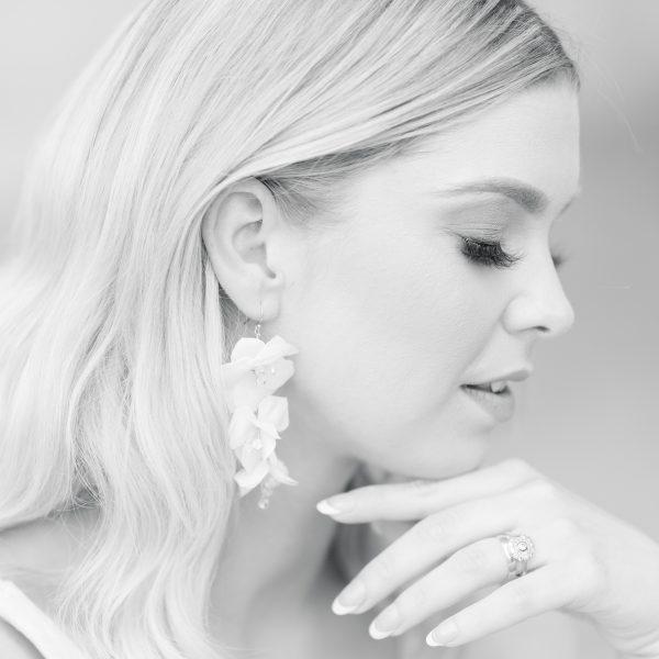 Lillia Cascading Flower Earrings
